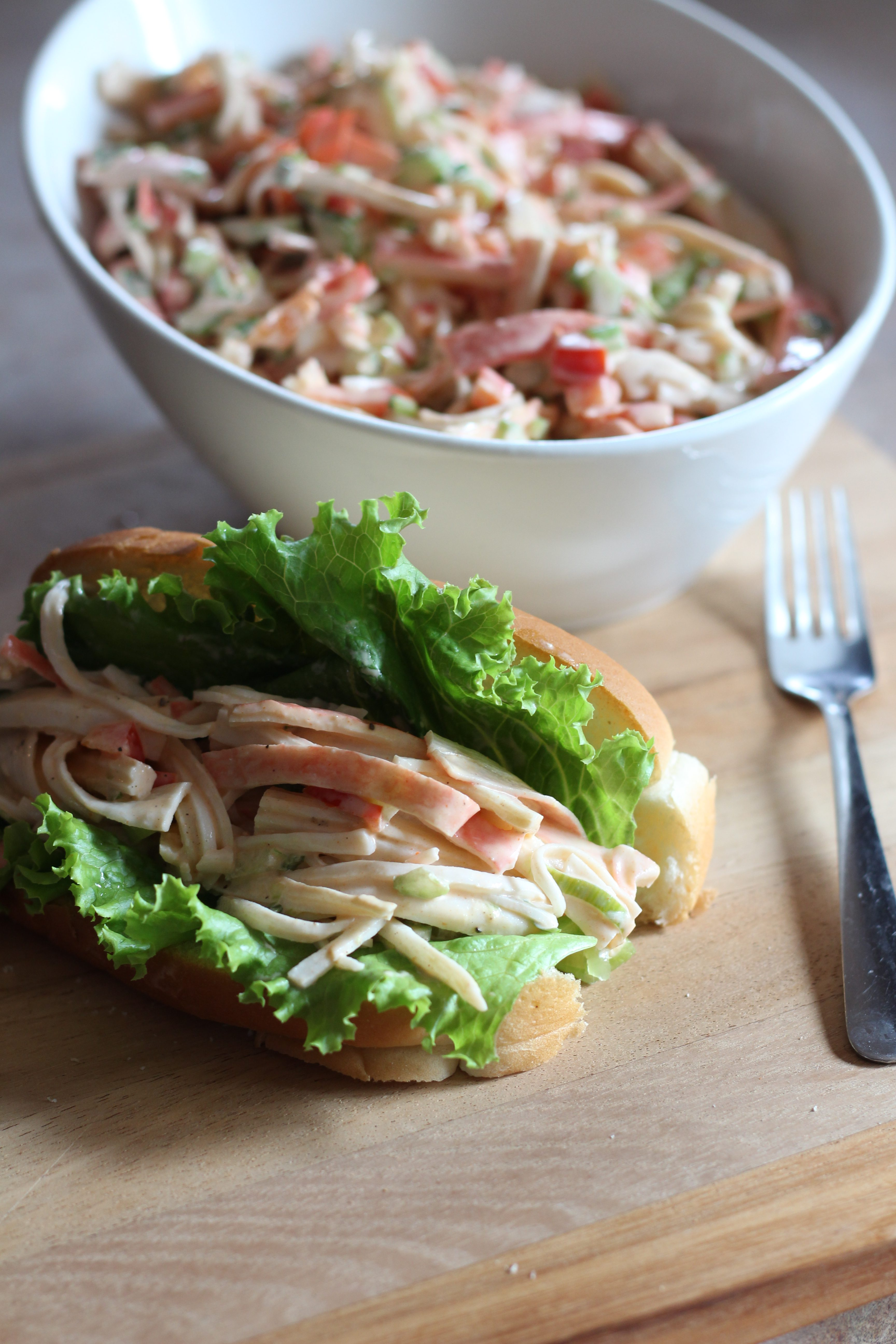 Salade de goberge façon Louisiane